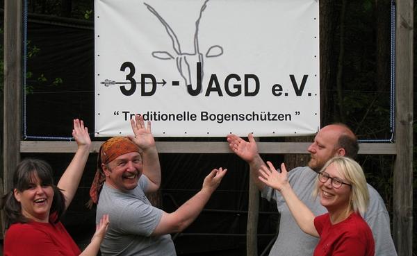 Vorstand des Vereins 3D-Jagd e.V. Ralf Kolb, Matthias Winkler, Gerlinde Denzler, Petra Kolb-Distler